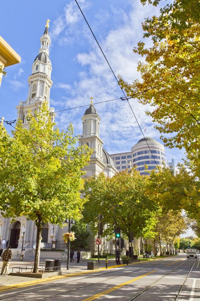 Downtown Sacramento on a sunny day.
