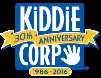 Kiddie corp 30th anniversary logo.