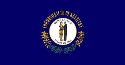 The official State flag of Kentucky.